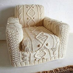 cabel knit armchair slipcover